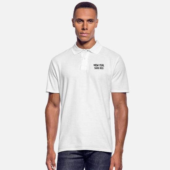 New Polo Shirts - new year himself crap mess mess man - Men's Polo Shirt white