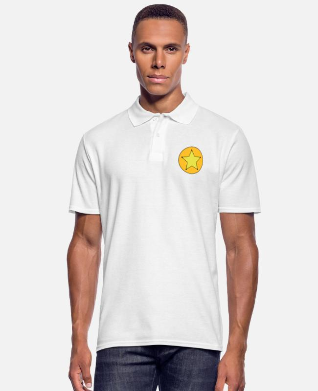 Western Camisetas polo - Sheriff Star - Camiseta polo hombre blanco