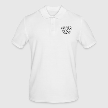 Poker Royal Flush card sheet - Men's Polo Shirt