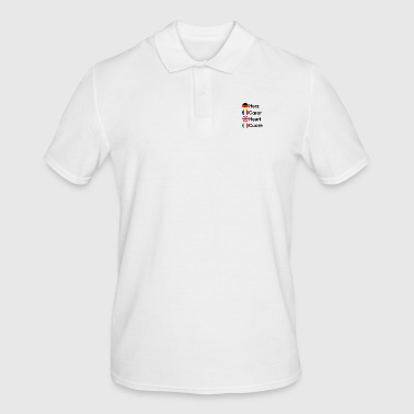 Heart Coeur Heart Cuore - Men's Polo Shirt