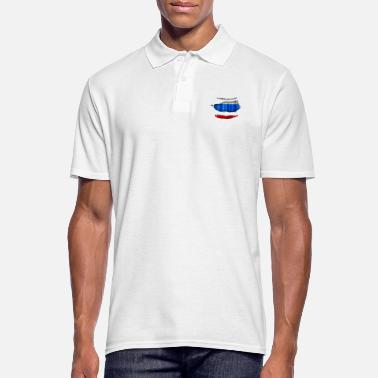 Torn Russia flag torn 017 - Men's Polo Shirt