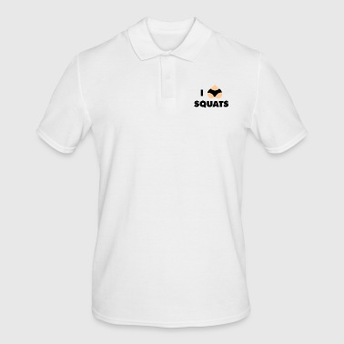 squats - Men's Polo Shirt
