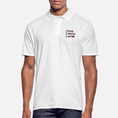 Tv Male Female Gamer Logo - Men's Polo Shirt