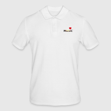 Cuore love music idea regalo creativo - Männer Poloshirt
