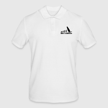Windsurfer Evolution Windsurfing Wind Surfing Surfer - Men's Polo Shirt