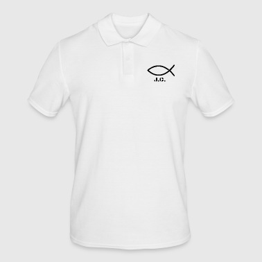 Christian Christian fish (Christianity) with lettering - Men's Polo Shirt