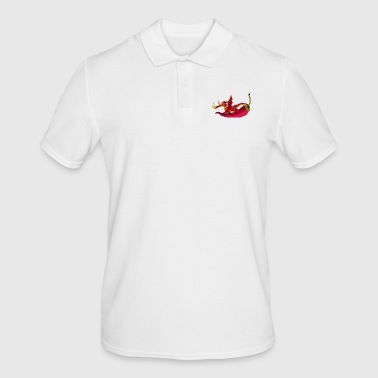 Dragon on chili chili pepper - Men's Polo Shirt