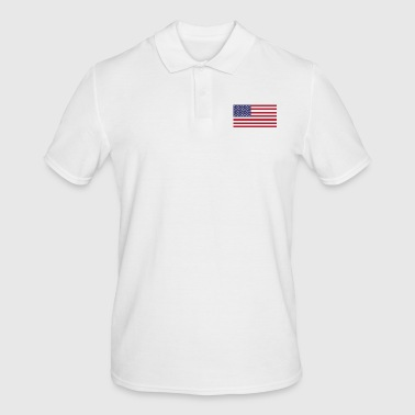 USA flag for Americans and USA fans - Men's Polo Shirt