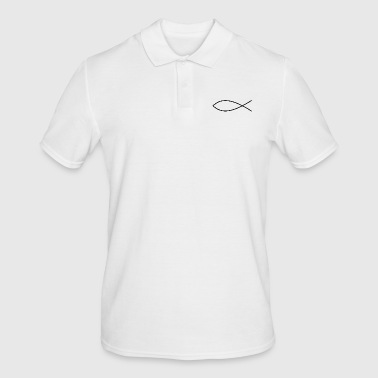 Fish Drawing Religious Identification - Men's Polo Shirt