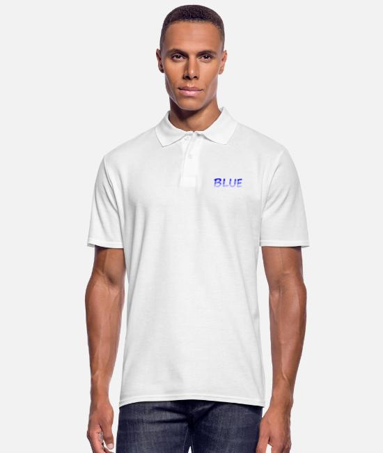 Rainbow Flag Polo Shirts - BLUE / Blue / Color / Font / Word / Colorful - Men's Polo Shirt white