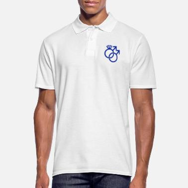 Gay Marriage Gay Marriage Ring Symbol - Männer Poloshirt