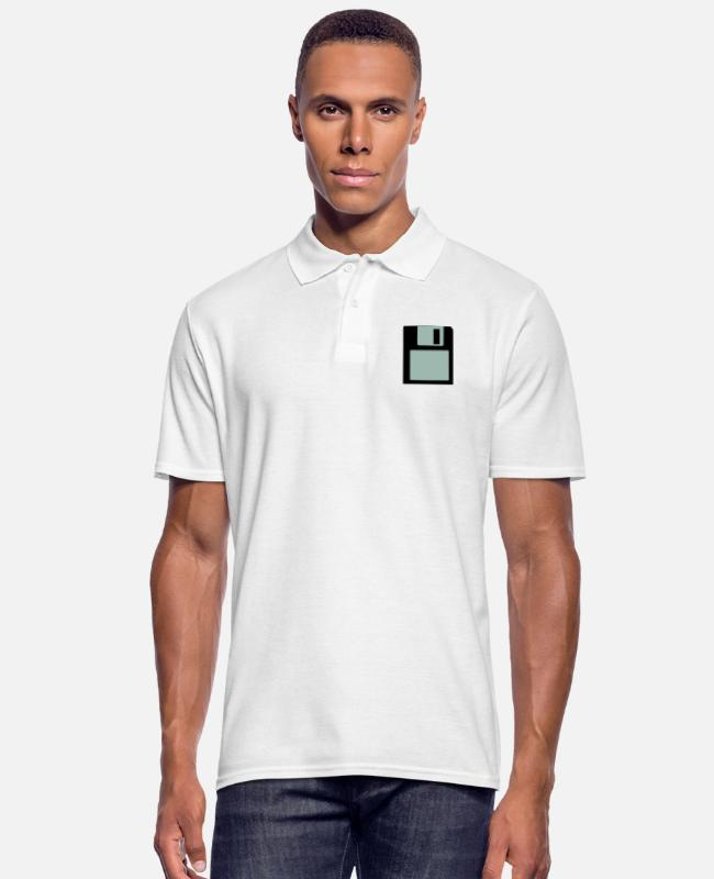 Vinyl Camisetas polo - Disco - Camiseta polo hombre blanco