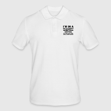 relationship with WRITING - Men's Polo Shirt