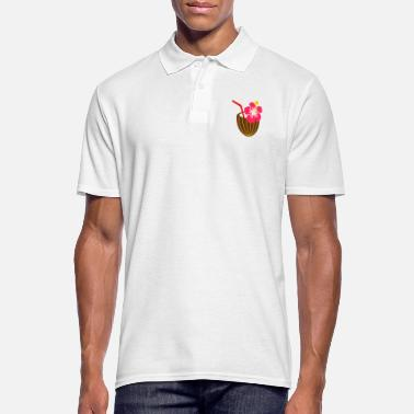 Hibiscus Coconut Cocktail Drink Alcohol Chilling - Men's Polo Shirt