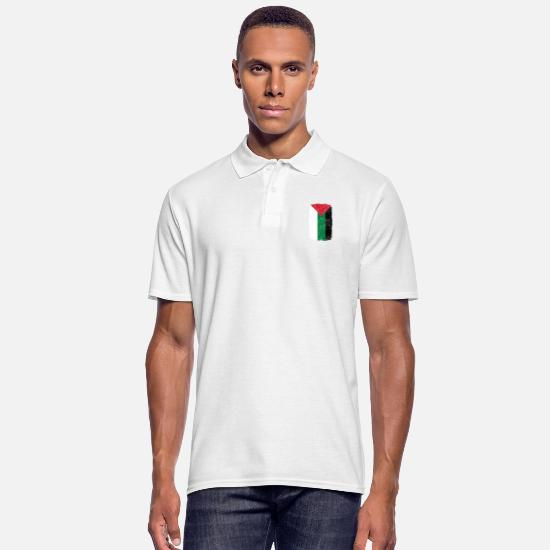 Love Polo Shirts - roots home country roots home palestine palaes - Men's Polo Shirt white