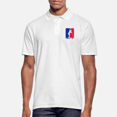 Up sup racer blue white red - Männer Poloshirt