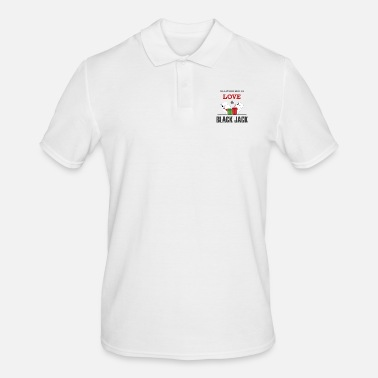 Blackjack Basta avere LOVE & BLACKJACK REGALO - Polo da uomo