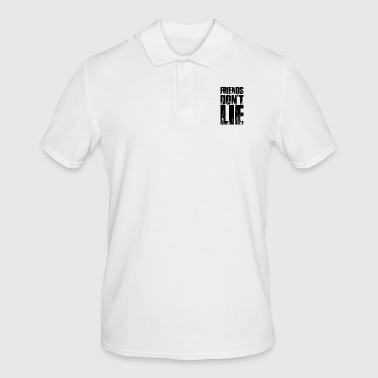 Friends Don't Lie Distressed Text Style Novelty - Men's Polo Shirt