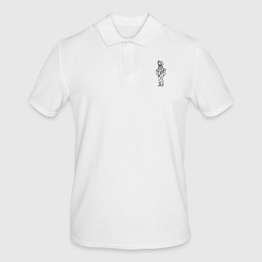 Stick figure hipster bearer cool type fashion - Men's Polo Shirt