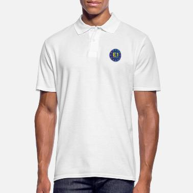 European Long Distance Hiking Trail E1 North Cape to Sicily - Long Distance Hiking - Men's Polo Shirt