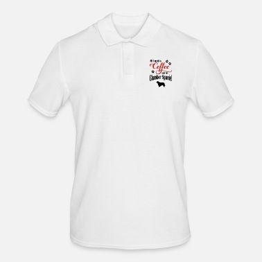 Spaniel Clumber Spaniel Coffee - Men's Polo Shirt