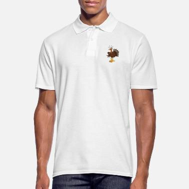Cartoon Turkey cartoon character - gift idea - Men's Polo Shirt