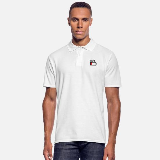 Vacía Camisetas polo - Daddy Family Energy Battery Battery camiseta en blanco - Camiseta polo hombre blanco