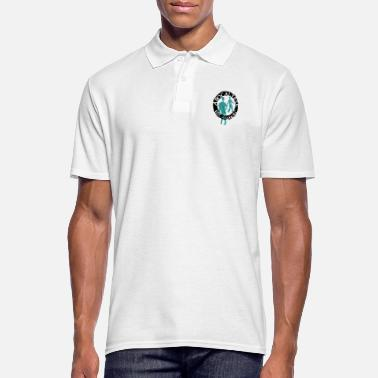Tahiti zombies noir turquoise - Polo Homme