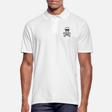 Eros & Thanatos Skull and Crossbones by Cheerful - Men's Polo Shirt