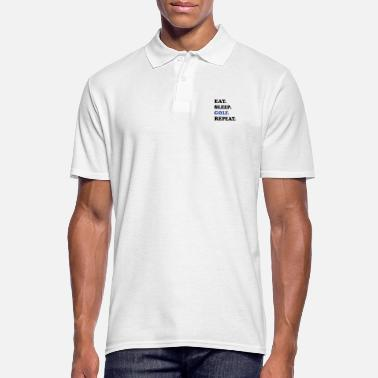 Morsom Golf Design - Spis Sleep Golf Repeat - Poloskjorte for menn