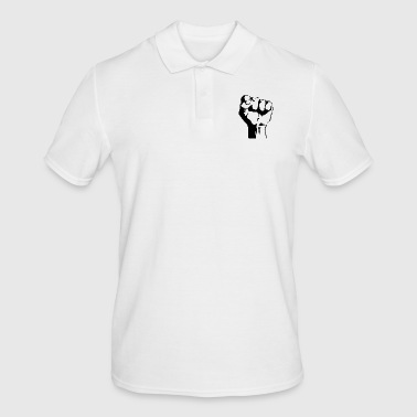 Fist stencil - Men's Polo Shirt