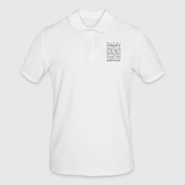 Filosofie Mijn filosofie is in principe is deze - Mannen poloshirt