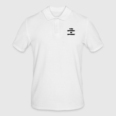 think different, be different - Männer Poloshirt