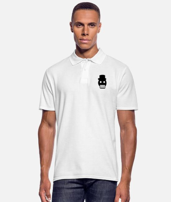 Headphones Polo Shirts - head - Men's Polo Shirt white