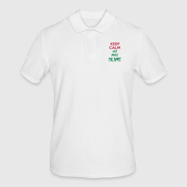 keep calm and make slime - Men's Polo Shirt