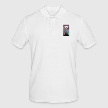 Cat Phone Call Call - Men's Polo Shirt