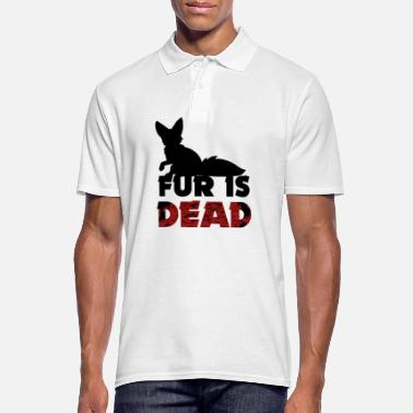 Fur Fur is dead - against fur - Men's Polo Shirt