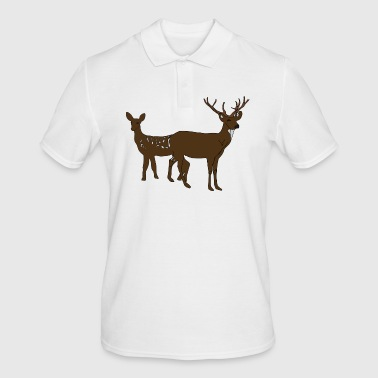 deer stag reindeer venison - Men's Polo Shirt