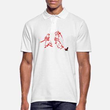 Japanese Drawing Japanese sword do - Men's Polo Shirt