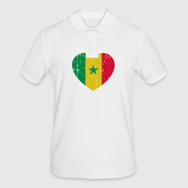 Senegal heart - Men's Polo Shirt
