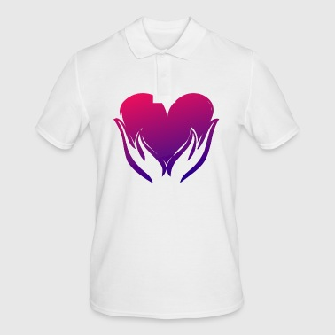 Heart illustration - Men's Polo Shirt