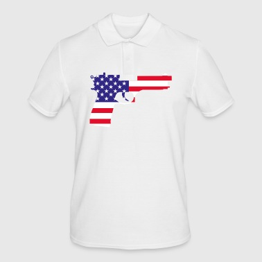 American Flag Pistol - Men's Polo Shirt