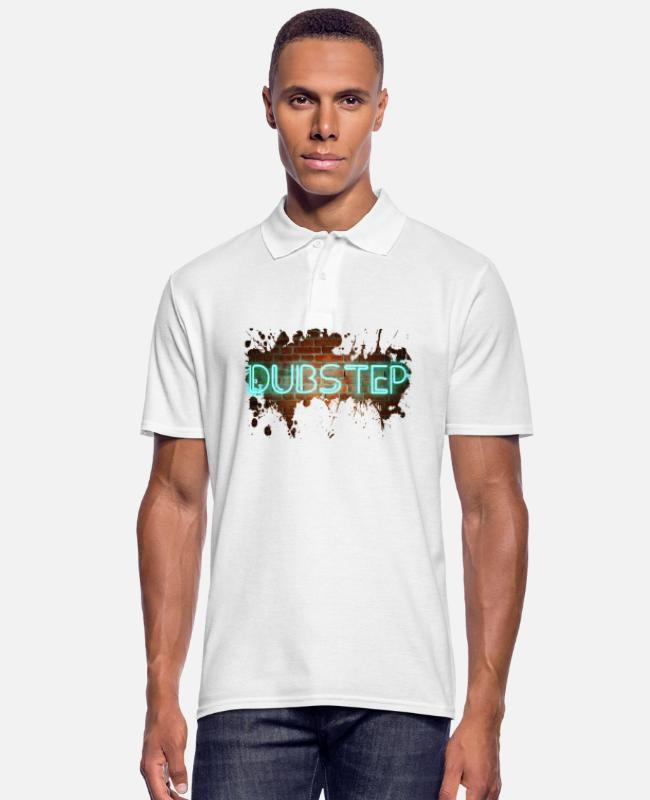 Dub Camisetas polo - dubstep - Camiseta polo hombre blanco