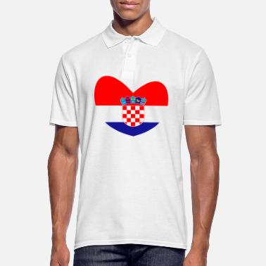 Croatia Croatia flag, Croatia, Croatia heart - Men's Polo Shirt