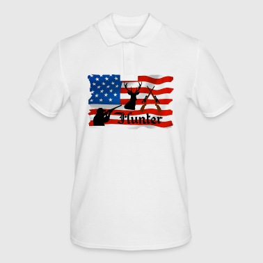 Hunting Hunter, hunting, hunt, Hunter, Hunting, flag, flag, USA, - Men's Polo Shirt