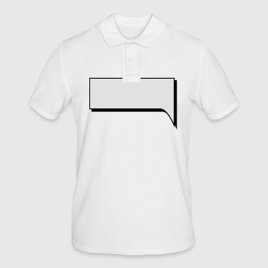 Bulle de dialogue BD Blanco - Polo Homme