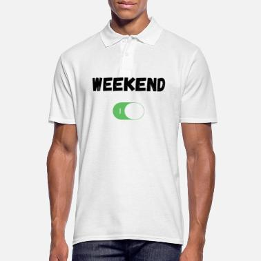 Switch Off Weekend on / off switch - Men's Polo Shirt