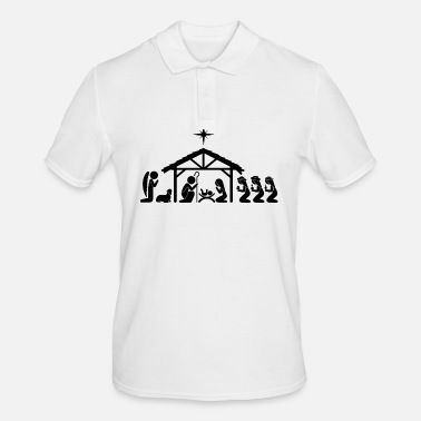 Scene Nativity Scene - Men's Polo Shirt