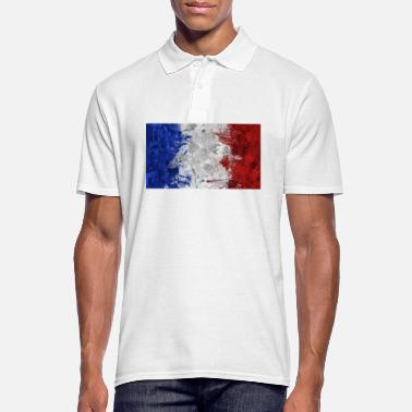 French Flag French flags. - Men's Polo Shirt
