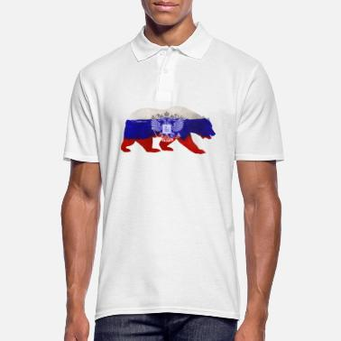 Russian Russian bear - Men's Polo Shirt